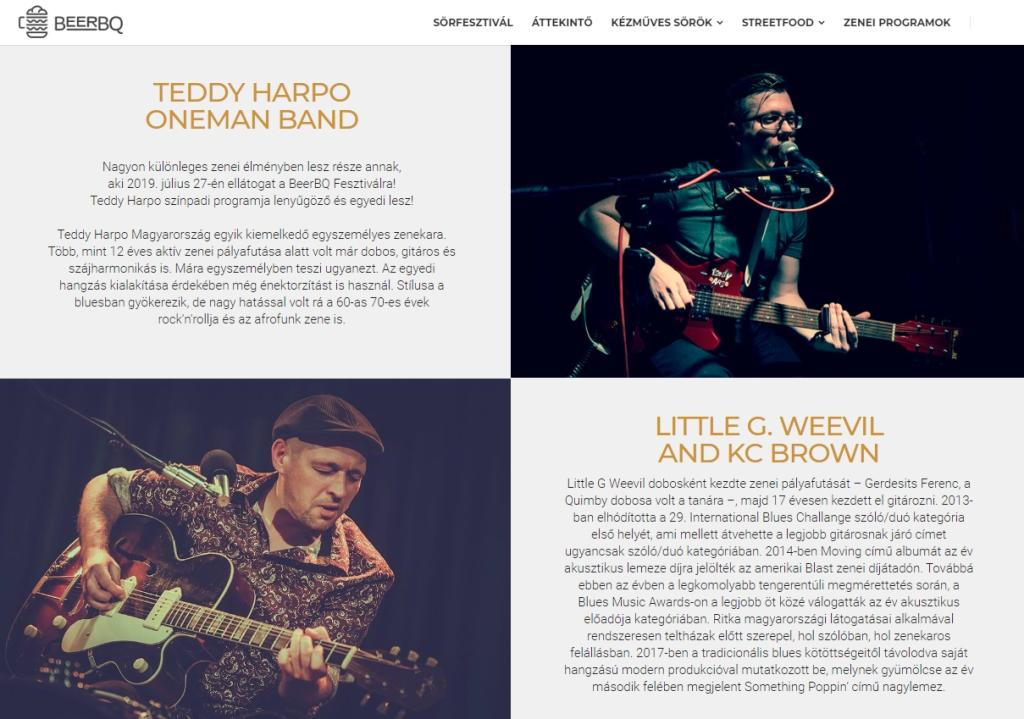 BeerBQ Fesztivál Baja Teddy Harpo One Man Band